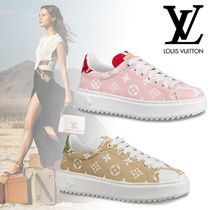 Louis Vuitton MONOGRAM Monogram Rubber Sole Casual Style Leather Low-Top Sneakers