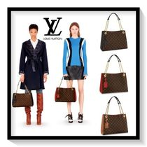 Louis Vuitton Monogram Canvas Blended Fabrics 2WAY Chain Office Style