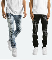 MNML Tapered Pants Unisex Street Style Collaboration Plain Cotton