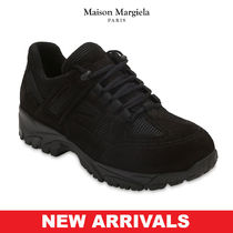 Maison Martin Margiela Moccasin Blended Fabrics Street Style Plain Leather