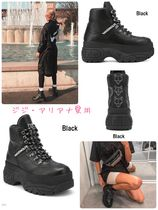 Naked Wolfe Platform Casual Style Street Style Leather Handmade