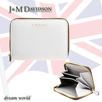J & M Davidson Plain Leather Card Holders