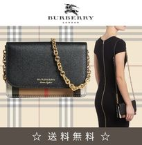 Burberry 2WAY Chain Leather Shoulder Bags