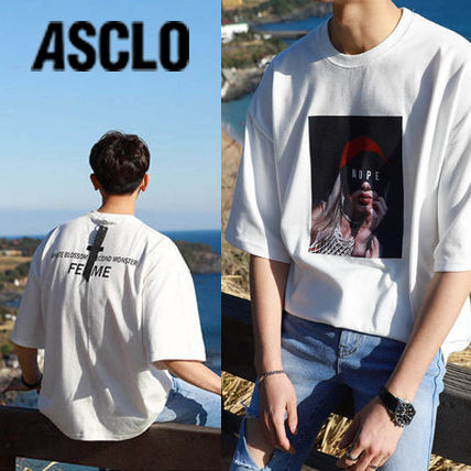 ASCLO More T-Shirts Cotton Short Sleeves Oversized T-Shirts 2