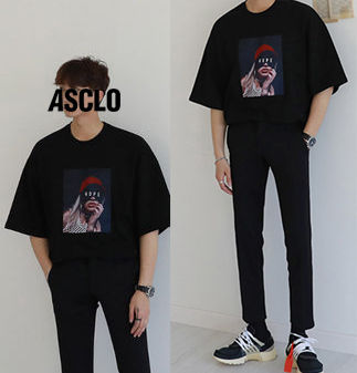 ASCLO More T-Shirts Cotton Short Sleeves Oversized T-Shirts 4