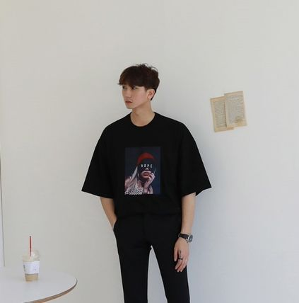 ASCLO More T-Shirts Cotton Short Sleeves Oversized T-Shirts 8