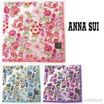 ANNA SUI Flower Patterns Silk Handkerchief