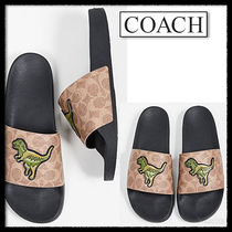 Coach Monogram Street Style Shower Shoes Shower Sandals