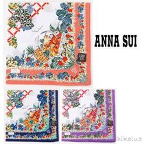 ANNA SUI Tropical Patterns Cotton Handkerchief