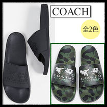 Coach Camouflage Street Style Plain Shower Shoes Shower Sandals