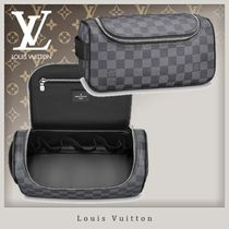 Louis Vuitton DAMIER GRAPHITE Unisex Blended Fabrics Soft Type Luggage & Travel Bags