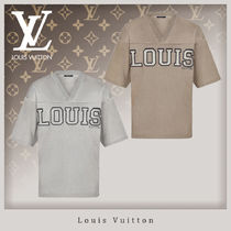 Louis Vuitton Unisex Street Style V-Neck Short Sleeves V-Neck T-Shirts