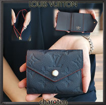 Louis Vuitton MONOGRAM EMPREINTE Monogram Unisex Calfskin Bi-color Folding Wallets