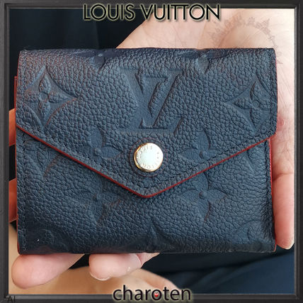 Louis Vuitton Folding Wallets Monogram Unisex Calfskin Bi-color Folding Wallets 2