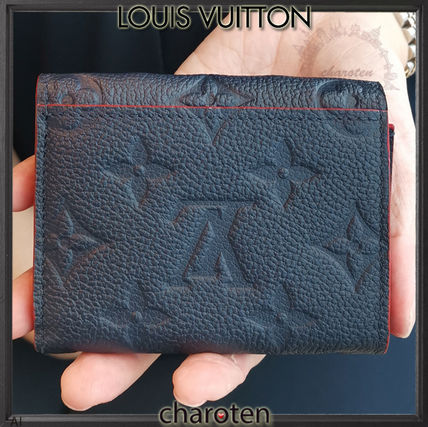 Louis Vuitton Folding Wallets Monogram Unisex Calfskin Bi-color Folding Wallets 6
