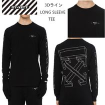 Off-White Street Style Long Sleeves Cotton Long Sleeve T-Shirts