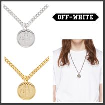 Off-White Street Style Chain Metal Necklaces & Chokers