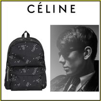 CELINE Unisex Nylon Chain Plain Backpacks