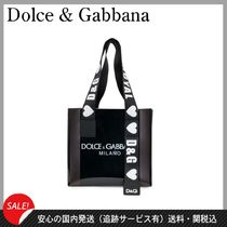 Dolce & Gabbana Casual Style PVC Clothing Totes