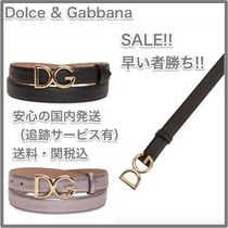 Dolce & Gabbana Plain Leather Elegant Style Belts