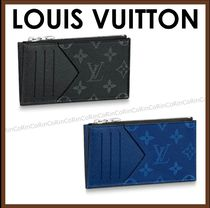 Louis Vuitton TAIGA Monogram Unisex Canvas Card Holders