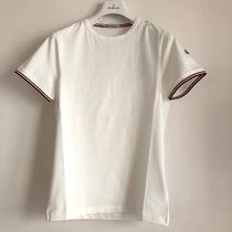 MONCLER Crew Neck Plain Short Sleeves Logos on the Sleeves