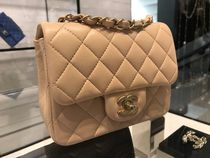 CHANEL MATELASSE Leather Party Style Shoulder Bags