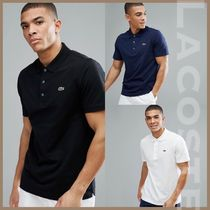 LACOSTE Pullovers Street Style Plain Cotton Short Sleeves Polos