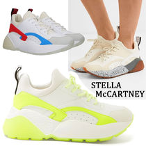 Stella McCartney Platform Round Toe Lace-up Casual Style Suede Street Style