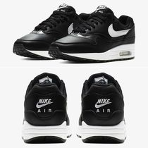 Nike AIR MAX 1 Round Toe Casual Style Street Style Plain Low-Top Sneakers