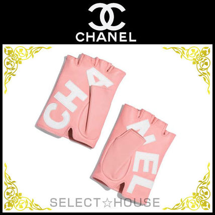 CHANEL Leather & Faux Leather Leather Leather & Faux Leather Gloves