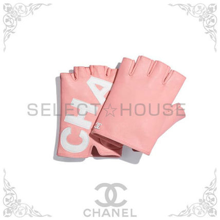 CHANEL Leather & Faux Leather Leather Leather & Faux Leather Gloves 2