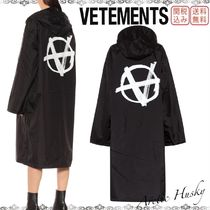 VETEMENTS Unisex Street Style Plain Long Oversized Jackets