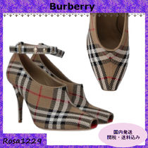 Burberry Open Toe Peep Toe Pumps & Mules