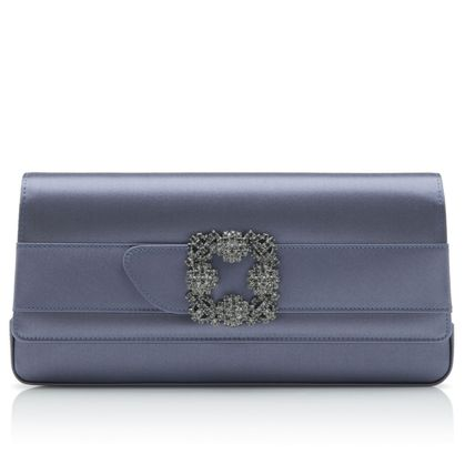 Manolo Blahnik Gothisi clutch bag Grey