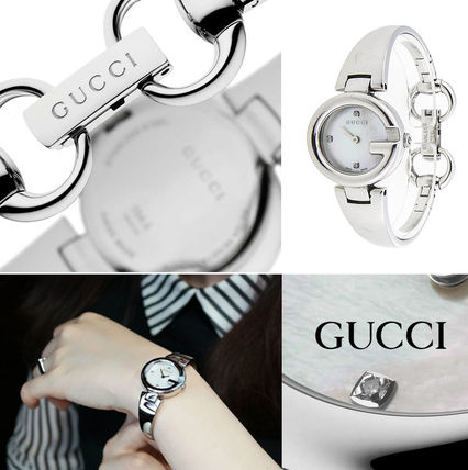 GUCCI Casual Style Round Party Style Quartz Watches