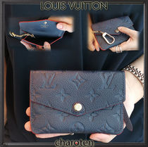 Louis Vuitton MONOGRAM EMPREINTE Monogram Unisex Calfskin Bi-color Chain Coin Cases