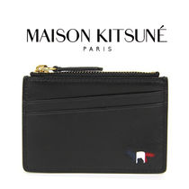 MAISON KITSUNE Unisex Other Animal Patterns Leather Coin Cases