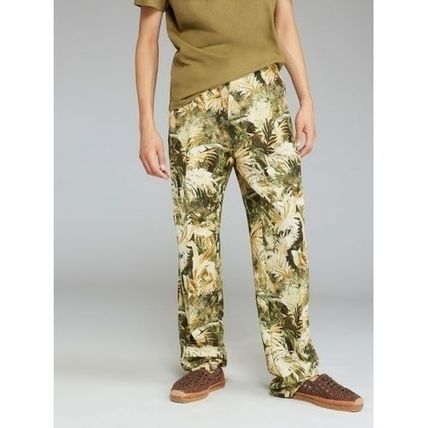 Printed Pants Flower Patterns Tropical Patterns