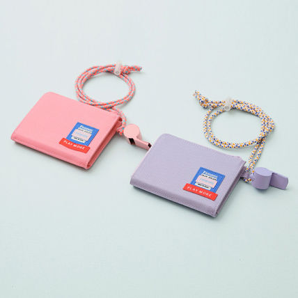 Street Style Collaboration Plain PVC Clothing Long Wallet