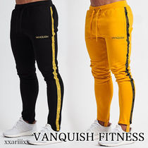 VANQUISH FITNESS Tapered Pants Blended Fabrics Street Style Plain Cotton