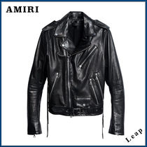 AMIRI Blended Fabrics Street Style Leather Biker Jackets