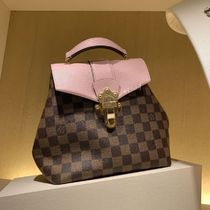 Louis Vuitton CLAPTON Other Check Patterns Blended Fabrics 2WAY Bi-color Leather