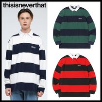 thisisneverthat Street Style Long Sleeves Polos