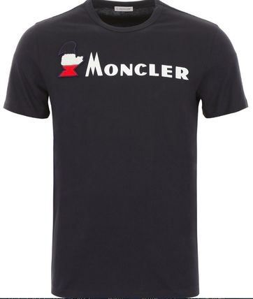 MONCLER More T-Shirts Plain Cotton Short Sleeves T-Shirts 7