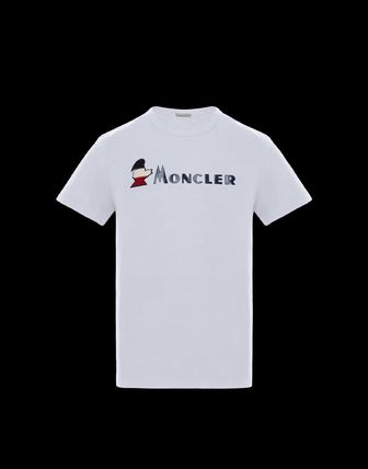 MONCLER More T-Shirts Plain Cotton Short Sleeves T-Shirts 2