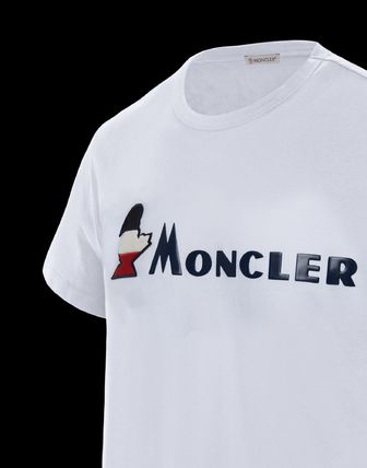 MONCLER More T-Shirts Plain Cotton Short Sleeves T-Shirts 4