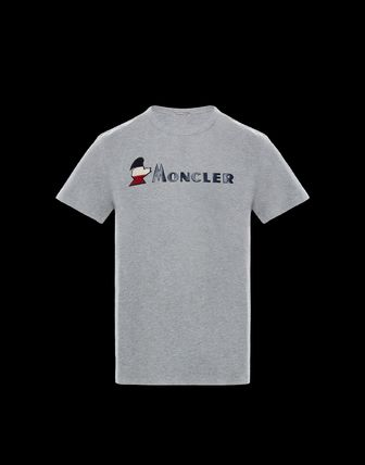 MONCLER More T-Shirts Plain Cotton Short Sleeves T-Shirts 5
