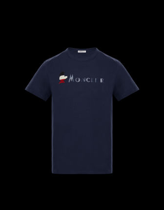 MONCLER More T-Shirts Plain Cotton Short Sleeves T-Shirts 8