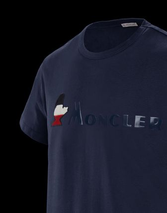 MONCLER More T-Shirts Plain Cotton Short Sleeves T-Shirts 9